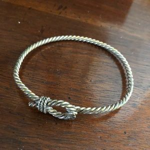 Jewelry - Twisted silver hook and loop bracelet